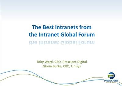 Best of Intranet Global Forum 2014 LA