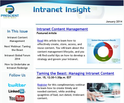 Intranet Insight Newsletter Example