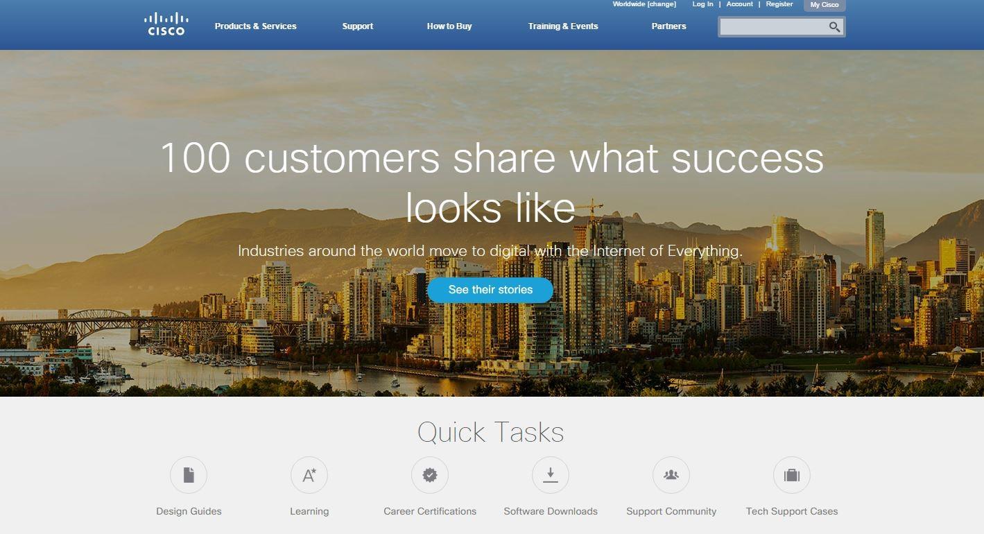 Cisco.com home