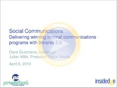 Social communications screenshot