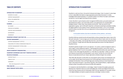 SharePoint for Communicators White Paper Table of Contents