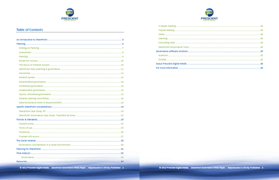 SharePoint Governance White Paper TOC
