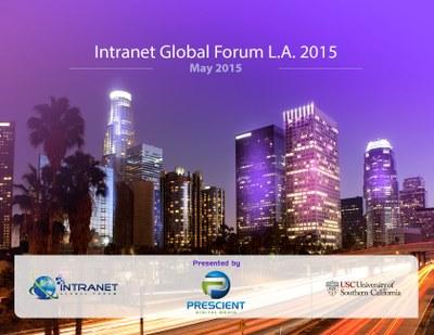 Intranet Global Forum 2015 L.A Banner