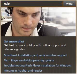 Adobe help and support