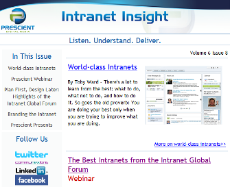 Intranet Insight example