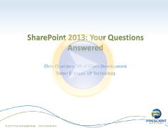 SharePoint 2013 webinar