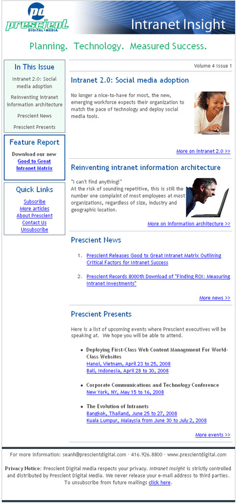 Intranet Insight Sample Issue