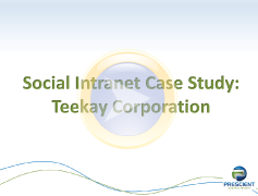 Social Intranet Case Study with Teekay
