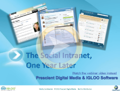 social intranet one year later