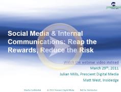Social media and internal communciations webinar screenshot